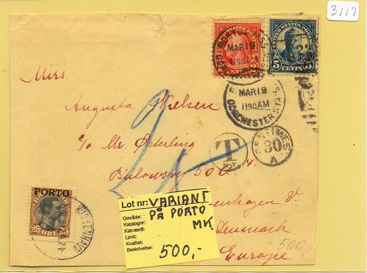 porto brev til tyskland